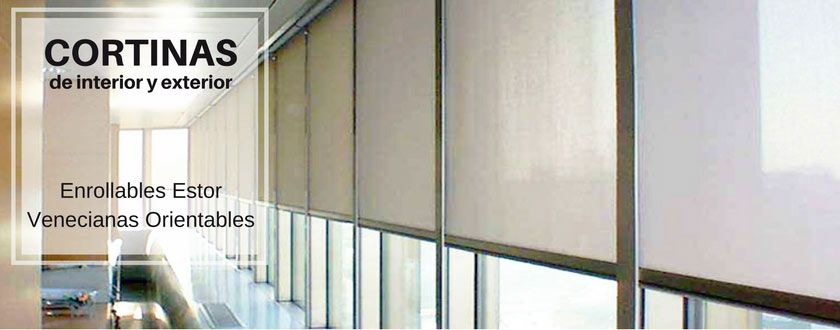 Cortinas enrollables estor por cadena